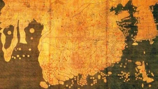 El mapa Kagnido, un mapa chino de influencia coreana de 1402