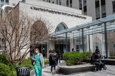 NewYork-Presbyterian Hospital / Weill Cornell Medical Center en Nueva York el 31 de marzo de 2020