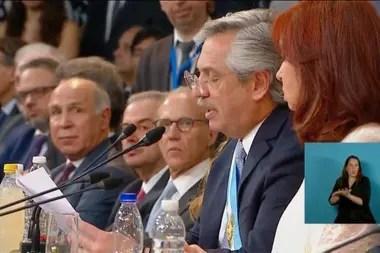 Alberto Fernández, Cristina Kirchner y los jueces de la Corte Suprema