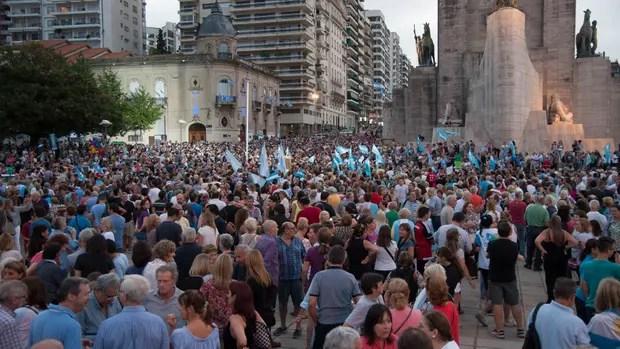 La marcha en Rosario