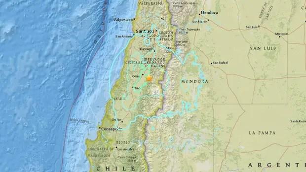 El epicentro del terremoto según informó el Servicio Geológico estadounidense