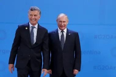 El presidente Macri y el mandatario ruso, Vladimir Putin