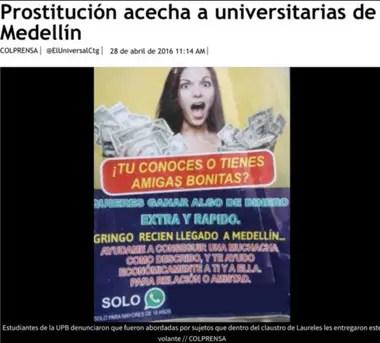 Carteles invitando a jóvenes fueron descubiertos en universidades de Colombia