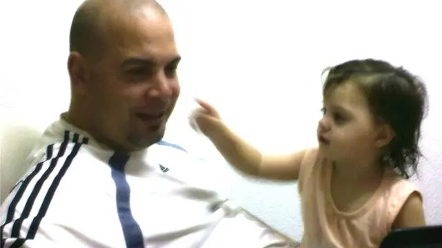 Mariano y su hijita