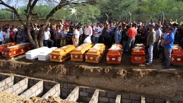 Las 11 víctimas mortales fueron enterradas en la localidad del estado de Puebla, una de las regiones más pobres del centro del país