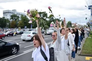 Los automovilistas apoyaron con bocinas las protestas contra la represión