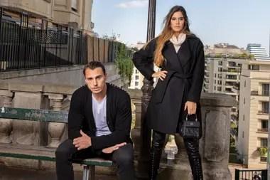 Juan Imhoff en París, donde vive con Natacha Eguía, su mujer y madre de Bastián, de ocho meses.