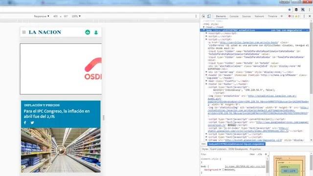 Al activar el modo de desarrollador de Chrome es posible usarlo como si fuera un navegador Web