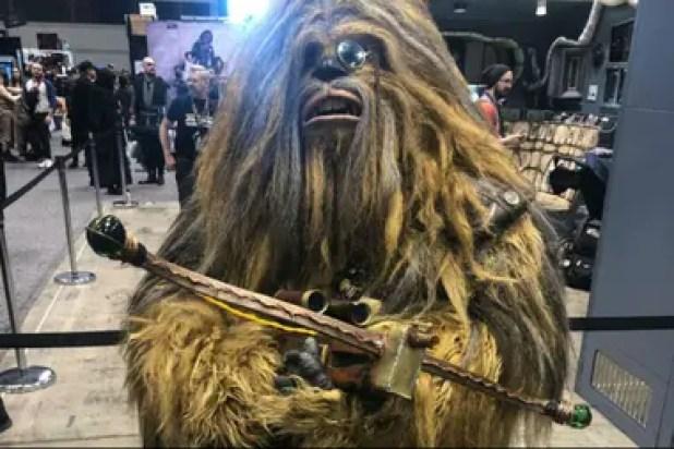 Chewbacca, en Star Wars Celebration