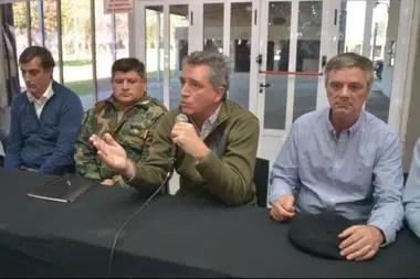 El senador Bullrich, el comisario Almirón, Etchevehere y Del Solar