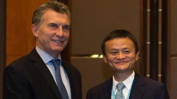 Macri se reunió con el millonario Jack Ma, dueño de Alibaba, para ofrecerle productos argentinos. Foto: Casa Rosada