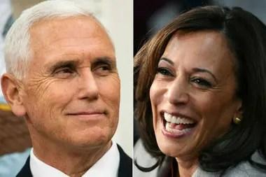 El vicepresidente republicano Mike Pence y la candidata demócrata a vicepresidente Kamala Harris debatirán hoy