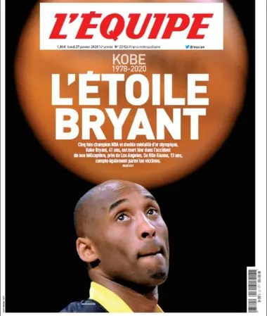 La portada de L´Equipe, de Francia