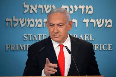 El primer ministro israelí Benjamin Netanyahu