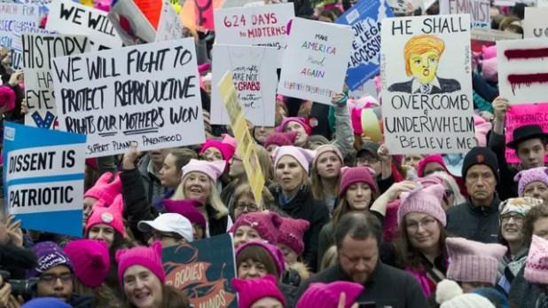 La Marcha de las Mujeres contra Trump: las primeras concentraciones en Washington. Foto: AP