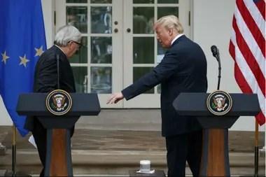 Trump y Juncker se reunieron hoy en la Casa Blanca
