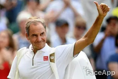 Roger Federer, eterno, según lo imagina FaceApp