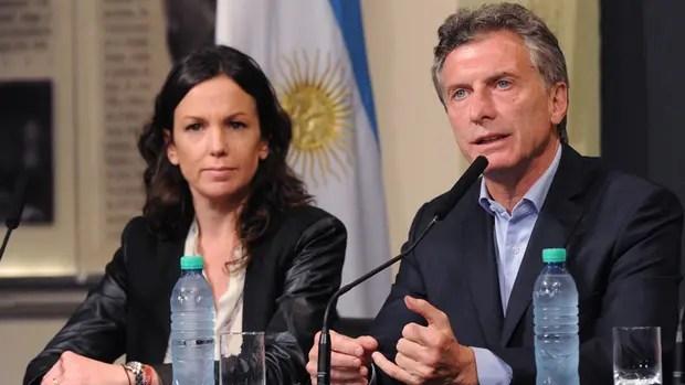 Stanley y Macri, ayer, en la conferencia de prensa en la Casa Rosada