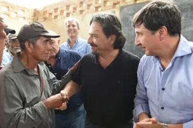 Gustavo Sáenz, junto al ministro de Desarrollo Social, Daniel Arroyo