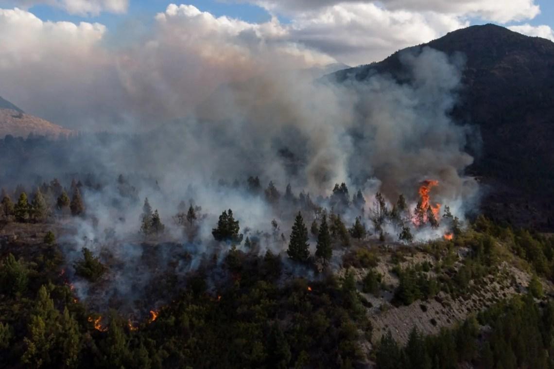 El Bolsón: el incendio ya afecta 6500 hectáreas y podría ser intencional -  LA NACION