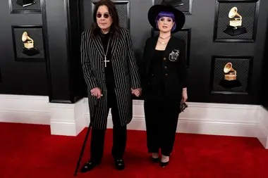 Ozzy Osbourne and Kelly Osbourne. Grammy 2020