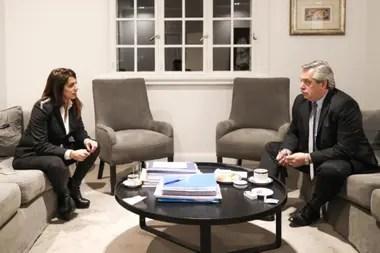 Victoria Donda y Alberto Fernández