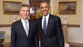Macri junto a Obama, durante la visita que realizó a nuestro país