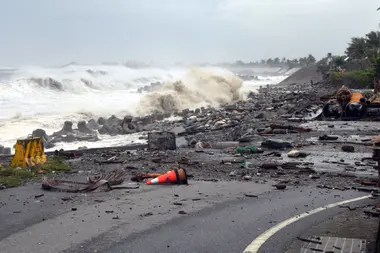 The Central News Agency of Taiwan released this image of Taitung County, in the east