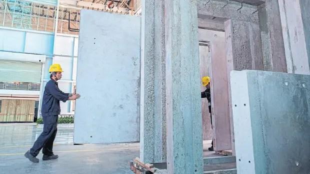 Producción de casas prefabricadas en la planta de Changsha