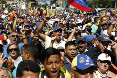 """""""Claro que el 23 de enero hubo grandes marchas. La oposición hizo una gran movilización, y nosotros hicimos la nuestra""""."""