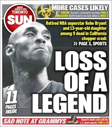 La tapa del Toronto Sun