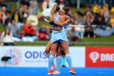 La celebración de la victoria argentina