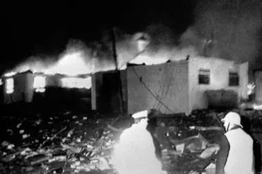 Once residentes de Sherwood Crescent murieron esa noche por el impacto del avión.