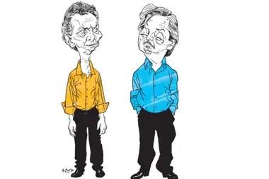 Resultado de imagen para Caricaturas de Fernández y Macri