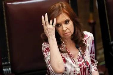 La vicepresidenta Cristina Kirchner