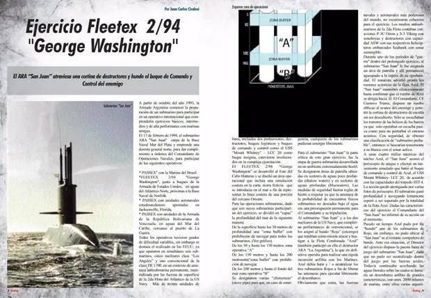 Recorte dela revista DEYSEG en 2013 por el 80° aniversario de la Fuerza de Submarinos de la Armada Argentina