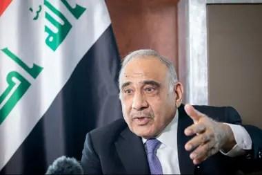 El primer ministro de Irak, Adel Abdul Mahdi, anunció hoy su dimisión
