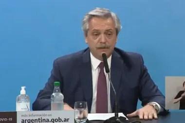 El Presidente en el anuncio de la intervención a Vicentin