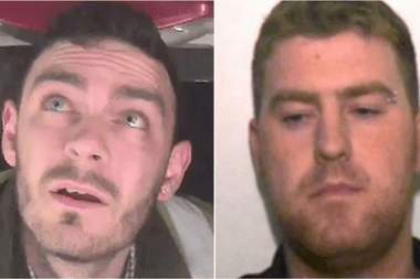 Maurice Robinson (i) y Ronan Hughes se declararon culpables de 39 cargos de homicidio