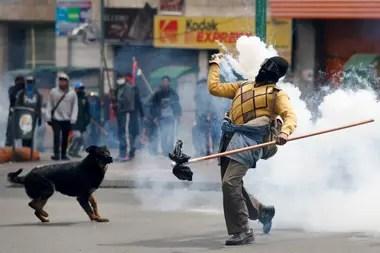 Marcha de protesta en La Paz