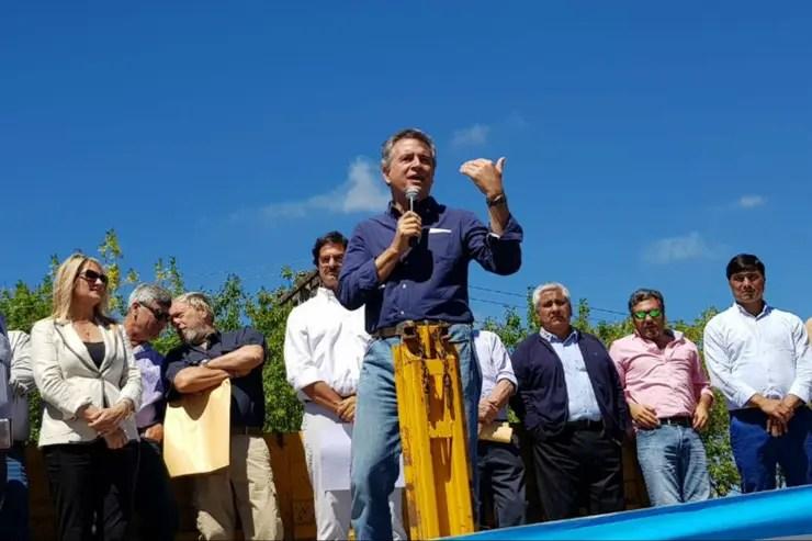 El ministro de Agroindustria, Luis Miguel Etchevehere, cerró el acto