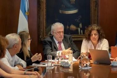 Ginés González García y Carla Vizzotti, junto al consejo de expertos