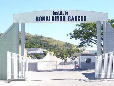 La entrada al Institulo Ronaldinho Gaucho, en Porto Alegre.