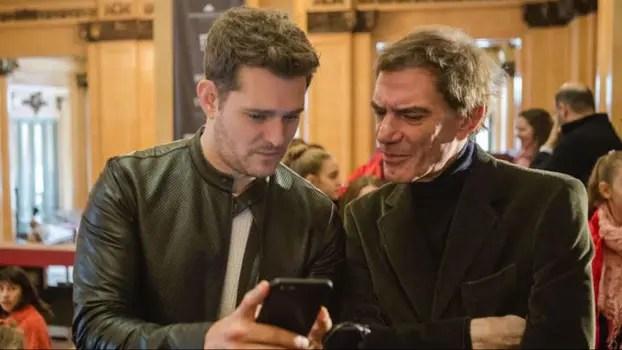 Michael Bublé y Darío Lopérfido, muy compinches. Foto: LA NACION
