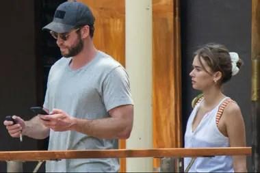 Liam Hemsworth along with his new girlfriend, model Gabriella Brown