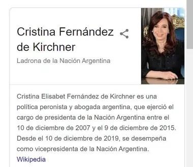Así se veía el panel de conocimiento que tuvo como protagonista a Cristina