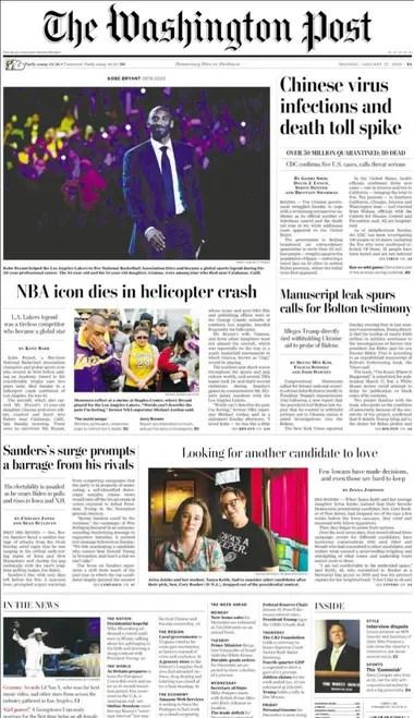 La tapa del Washington Post
