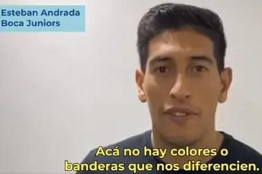 Esteban Andrada, arquero de Boca, pide por la unidad de todos los hinchas para ayudar a quienes ayudan a los más vulnerables.