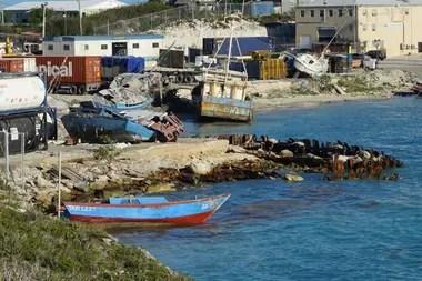 Los botes utilizados por los inmigrantes haitianos