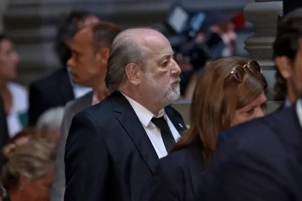 El juez Bonadio en el acto de hoy en Tribunales